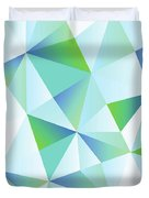 Ice Shards Abstract Geometric Angles Pattern Duvet Cover