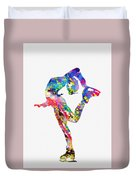 Ice Skater-colorful Duvet Cover