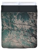 Ice Storm Branches - Blue Duvet Cover