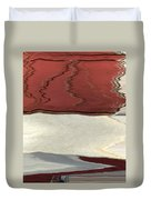 Ice To Earth Abstract Duvet Cover