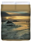 Ice Trail Hikers Duvet Cover