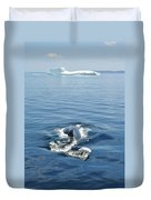 Iceberg And Humpback Duvet Cover