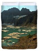 Icebergs Below Grinnell Glacier Duvet Cover