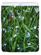 Iceblue Squill Duvet Cover