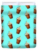 Iced Coffee To Go Pattern Duvet Cover