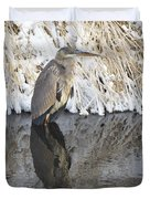 Iced Heron Duvet Cover