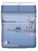Icefjord In Greenland Duvet Cover