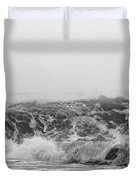 Iceland Black Sand Beach Wave Three Duvet Cover