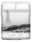 Iceland Black Sand Beach Wave Two Duvet Cover