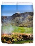 Iceland Landscape Panorama Wonderful Colors Duvet Cover
