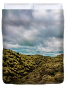 Iceland Moss And Clouds Duvet Cover