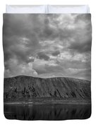 Iceland Mountain Reflections Bw Duvet Cover