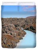 Iceland Tranquil Blue Lagoon  Duvet Cover