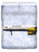 Icelandair Boeing 757 Art Duvet Cover