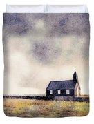 Icelandic Church In Watercolor Duvet Cover by Susan Maxwell Schmidt