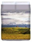 Icelandic Horses On The Countryside  Duvet Cover
