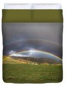 Icelandic Rainbows Duvet Cover