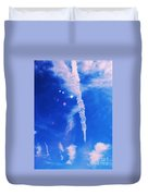 Icicle Clouds 1 Duvet Cover