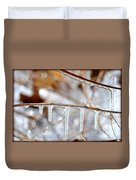 Icicles And Bokeh Duvet Cover
