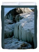 Icicles On The Rocks Duvet Cover