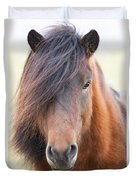 Iclelandic Horse Close Up Duvet Cover