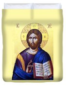 Icon Of Christ In Jericho Duvet Cover