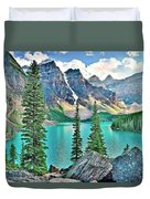 Iconic Banff National Park Attraction Duvet Cover