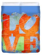 Iconic Love - Grunge Duvet Cover
