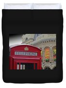 Iconic Postbox And Lyceum Theatre Duvet Cover