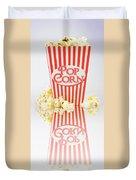 Iconic Striped Popcorn Carton Duvet Cover