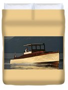 Iconic Wooden Runabout Duvet Cover