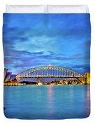 Icons Of Sydney Harbour Duvet Cover