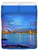 Icons Of Sydney Harbour Duvet Cover