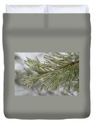 Icy Fingers Of The Pine Duvet Cover