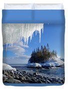 Icy Island View Duvet Cover