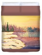 Icy Lake Duvet Cover