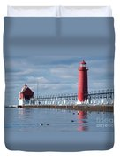 Icy Lighthouse Duvet Cover