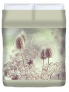 Icy Morning. Wild Grass Duvet Cover