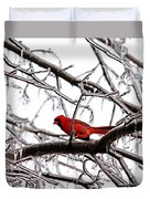 Icy Perch Duvet Cover