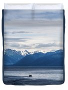Icy Strait Fishing Duvet Cover