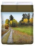Idaho Backroad Autumn Duvet Cover