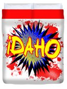 Idaho Comic Exclamation Duvet Cover