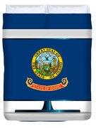Idaho Flag Tv Duvet Cover