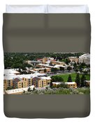 Idaho State University Upper Campus With Holt Arena Duvet Cover