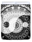Ideal Balance Black And White Yin And Yang By Sharon Cummings Duvet Cover