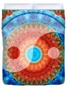 Ideal Balance Yin And Yang By Sharon Cummings Duvet Cover