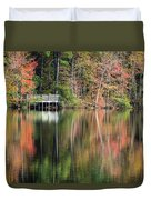 Idyllic Autumn Reflections Duvet Cover