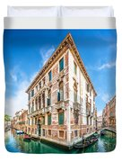 Idyllic Canal In Venice Duvet Cover