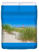 Idyllic Dunes And Lighthouse At North Sea Duvet Cover