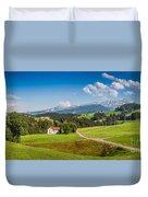 Idyllic Landscape In The Alps, Appenzellerland, Switzerland Duvet Cover